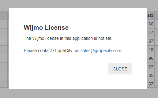 Licensing popup