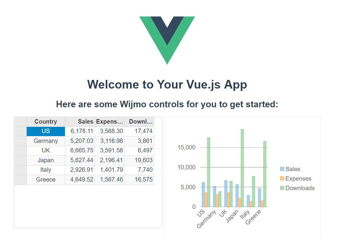 Vue.js app