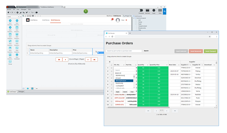 Low-code Platform OutSystems Releases a Fast and Lightweight Data Grid Powered by Wijmo