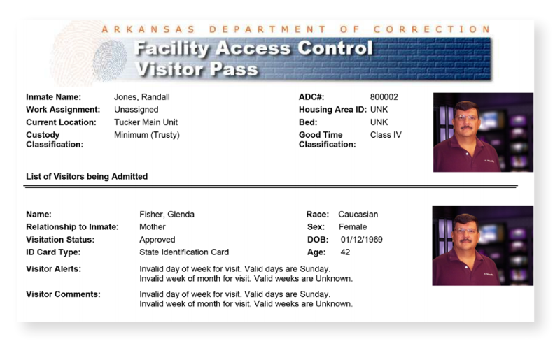 Visitor's Pass