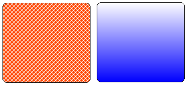 Hatch style and Gradient shape