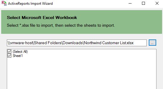 ActiveReports Import Wizard