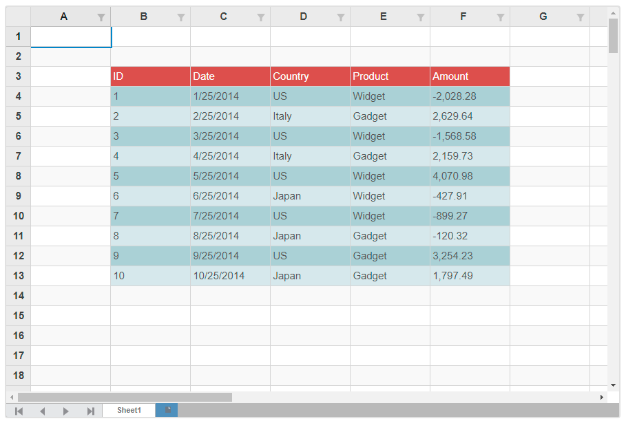 Wpf Dynamic Table