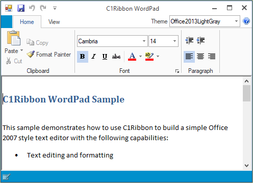 WordPad | WinForms | GrapeCity Code Samples