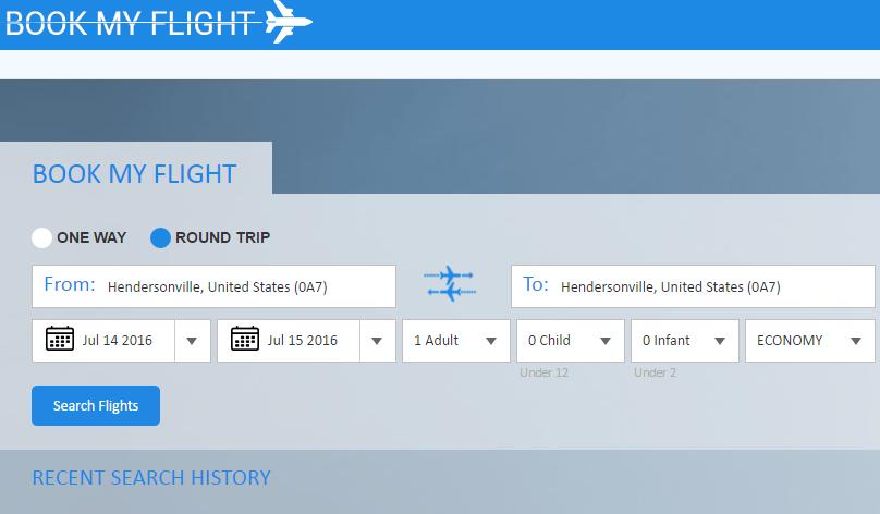 Asp Net Mvc Book My Flight Asp Net Grapecity Code Samples
